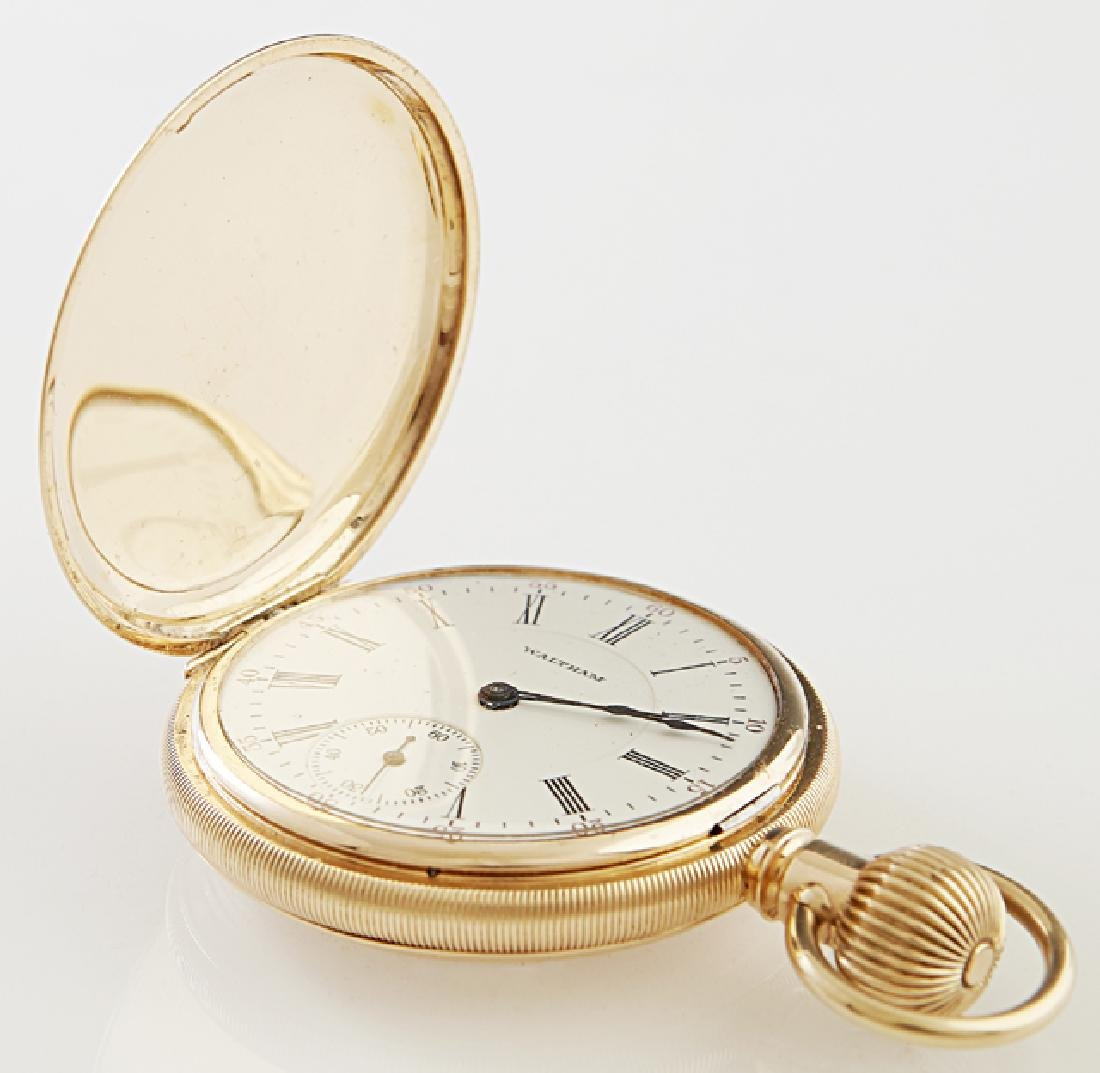 """Waltham 14K Yellow Gold """"P. S. Bartlett"""" Double Hunting"""