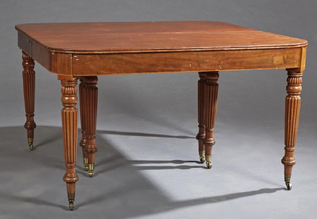 English William IV Carved Mahogany Dining Table, c.