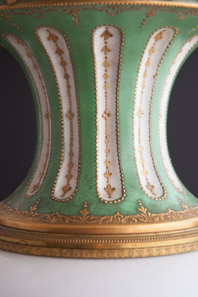 French Gilt Bronze Ormolu Mounted Sevres Style Covered - 6