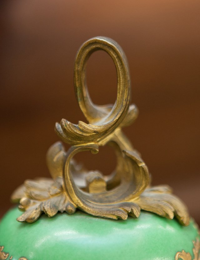 French Gilt Bronze Ormolu Mounted Sevres Style Covered - 7