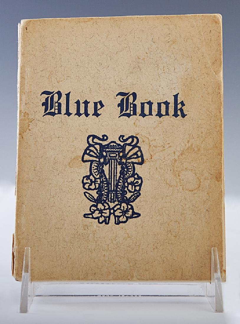 """New Orleans """"Blue Book,"""" c. 1960-1970, after the 1909 o"""