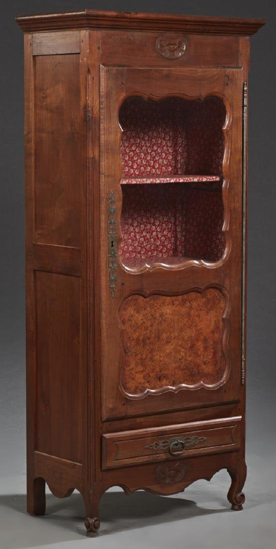 French Louis XV Style Carved Cherry and Elm Bonnetiere,