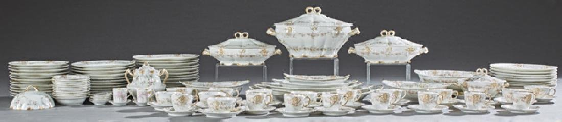 One Hundred Eight Piece Set of Limoges Porcelain
