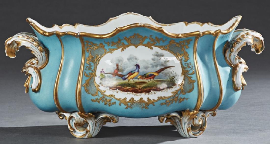 Old Paris Porcelain Oval Center Bowl, 19th c., of