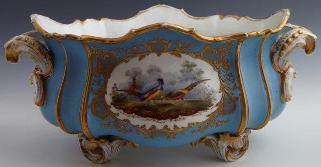Old Paris Porcelain Oval Center Bowl, 19th c., of - 2