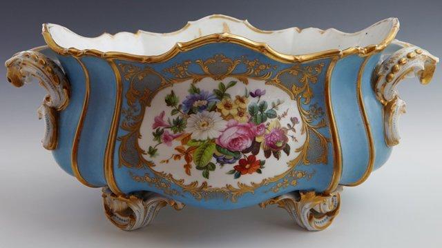 Old Paris Porcelain Oval Center Bowl, 19th c., of - 4