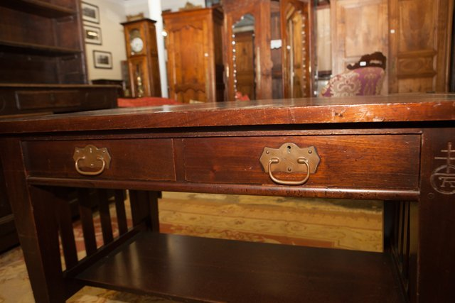 Roycroft Arts and Crafts Mahogany Mission Desk, early - 5