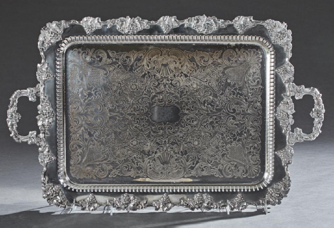 American Silverplated Handled Serving Tray, early 20th