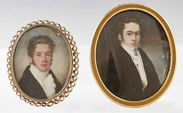 Two American Portrait Miniatures, early 19th c., of