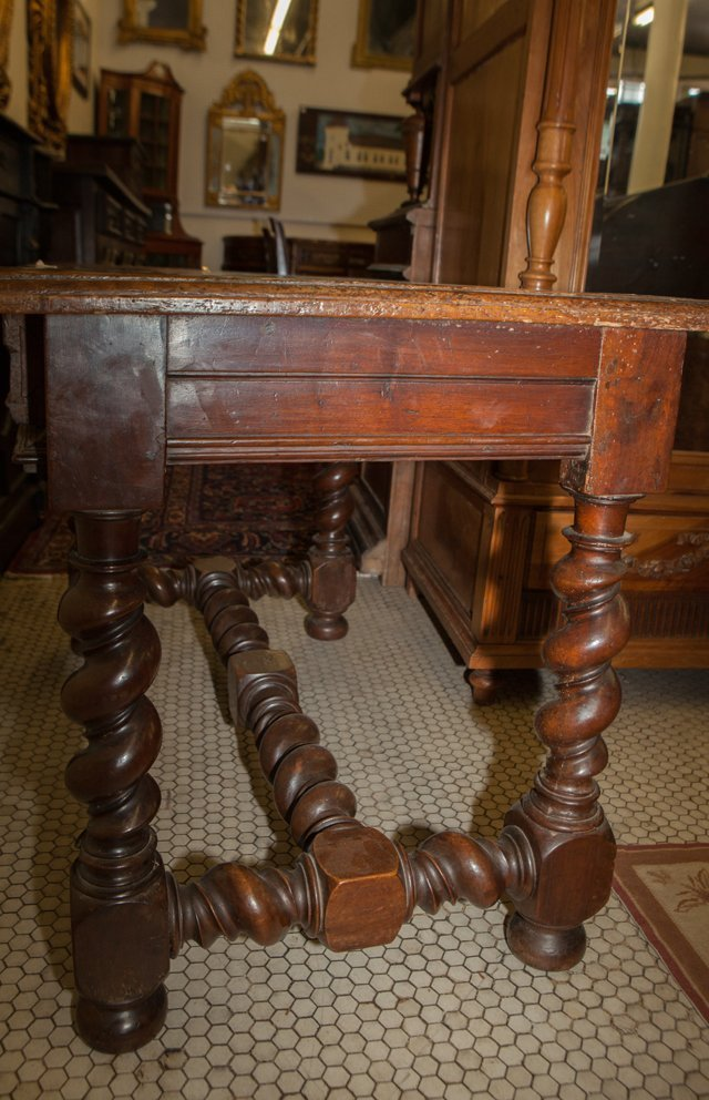 French Provincial Carved Walnut Writing Table, 18th c., - 4
