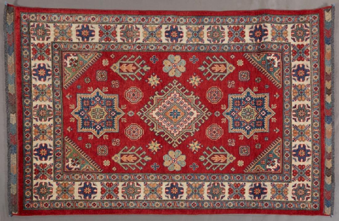 Uzbek Kazak Carpet, 4' 1 x 6'.