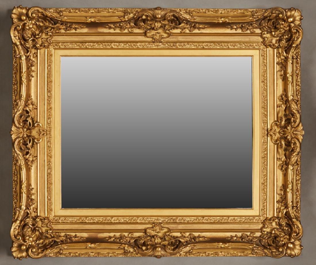 Gilt and Gesso Art Nouveau Style Overmantle Mirror,