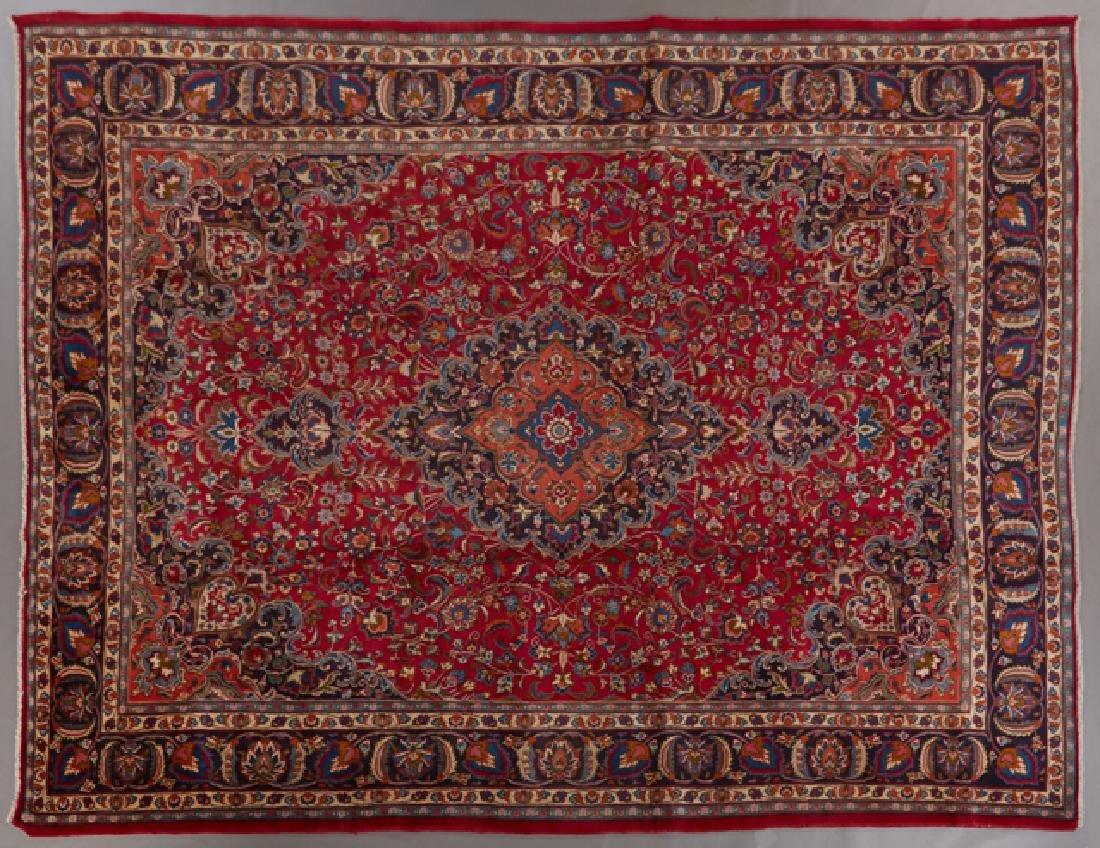 Mashad Carpet, 9' 6 x 13' 2.