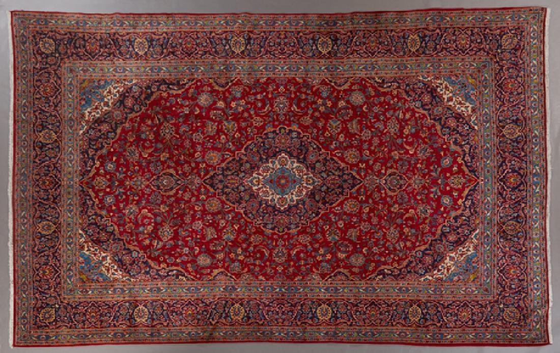 Kashan Carpet, 9' 7 x 13' 6.