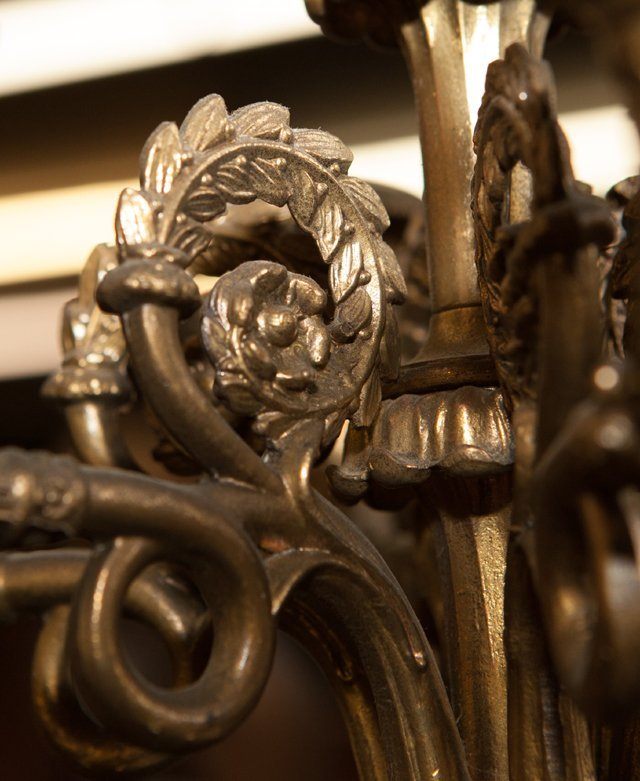 Pair of French Empire Style Gilt and Patinated Spelter - 7