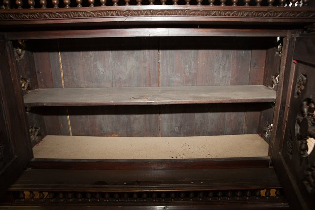 Rare Pair of French Provincial Carved Oak Buffets a - 8