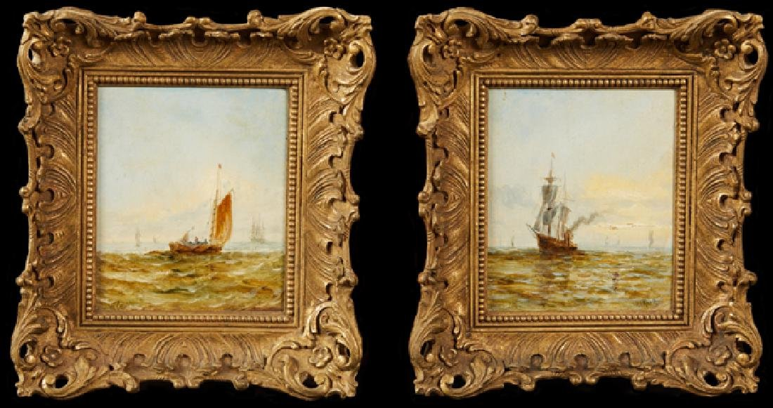 "William Calcott Knell (1830-1880, English), ""Sailboats"