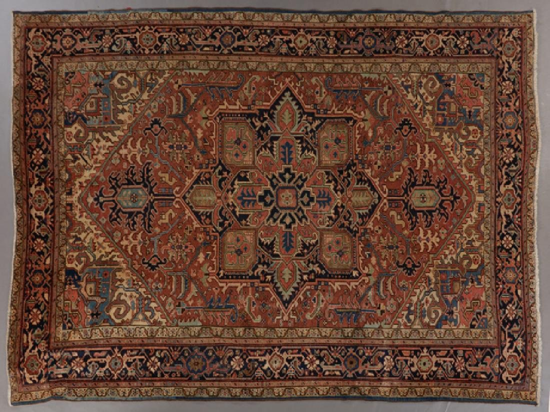 Semi-Antique Serapi Carpet, 9' 2 x 11' 3.