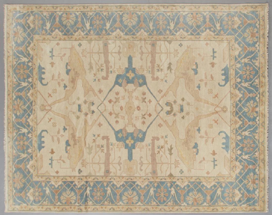 Turkish Angora Oushak Carpet, 9' 2 x 12' 1.