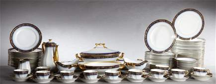 Eighty-Six Piece Set of French Limoges Porcelain