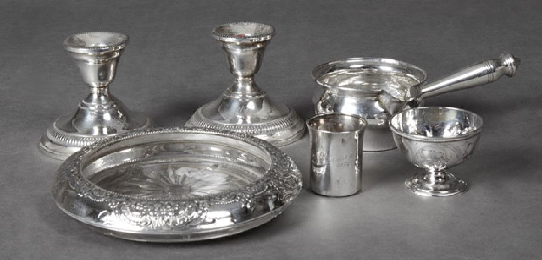 Six Pieces of Silver, consisting of a pair of weighted