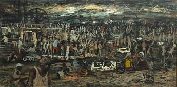 "Noel Rockmore, ""Coney Island,"" August 3, 1964, oil on"