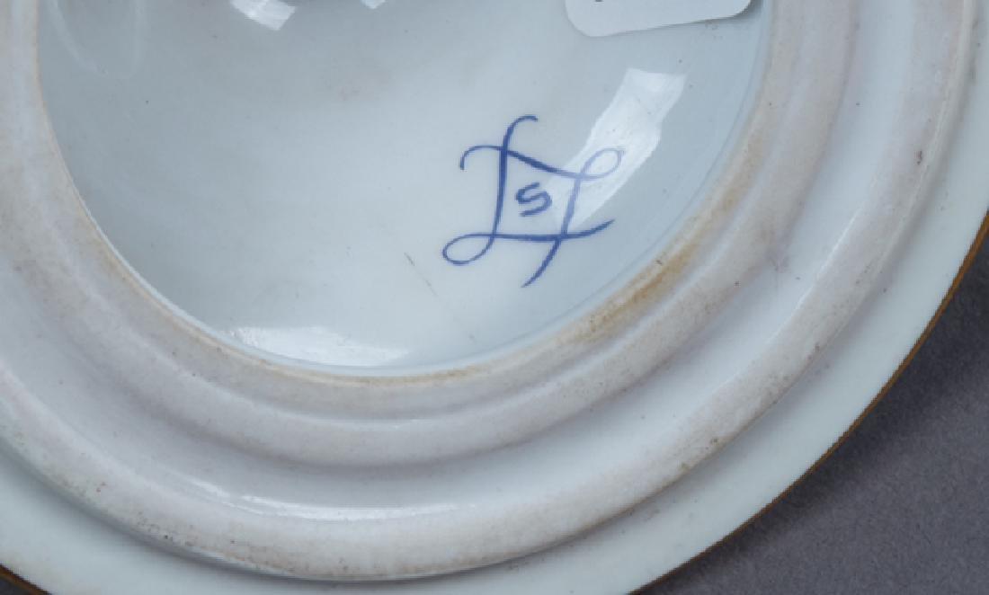 Sevres Style Bronze Mounted Porcelain Baluster Urn, - 3