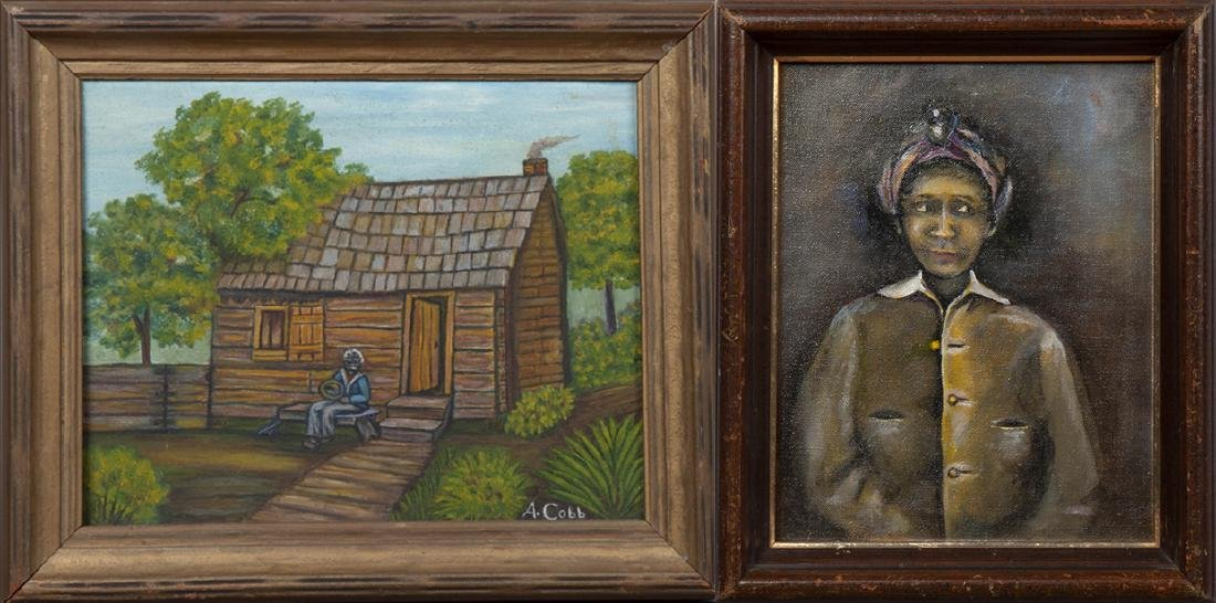 """New Orleans School, """"Portrait of a Black Woman in a"""