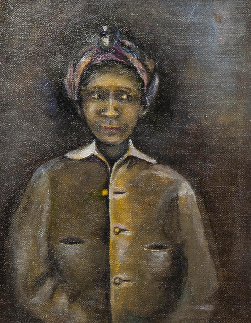 """New Orleans School, """"Portrait of a Black Woman in a - 5"""