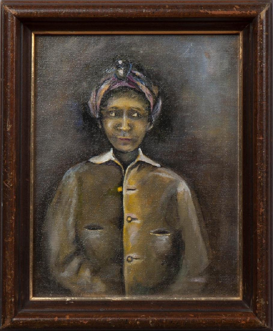 """New Orleans School, """"Portrait of a Black Woman in a - 6"""