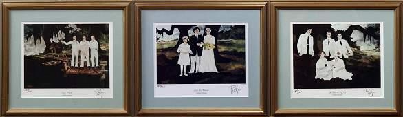 George Rodrigue (1944-2013, Louisiana), Group of Three