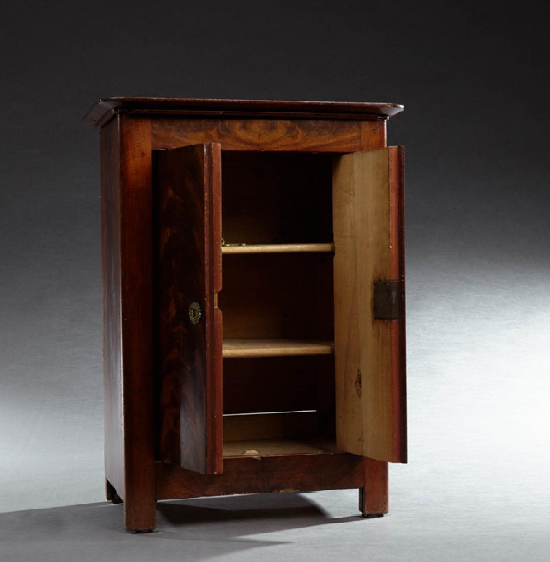 Carved Mahogany Dollhouse Armoire, 19th c., the rounded - 2