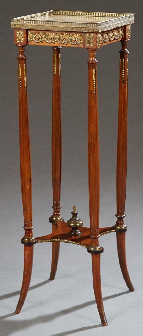 French Louis XVI Style Ormolu Mounted Pedestal, c.