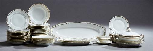 French Fifty-Six Piece Set of Limoges Porcelain