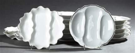 Fourteen Piece French Limoges Porcelain Asparagus Set,