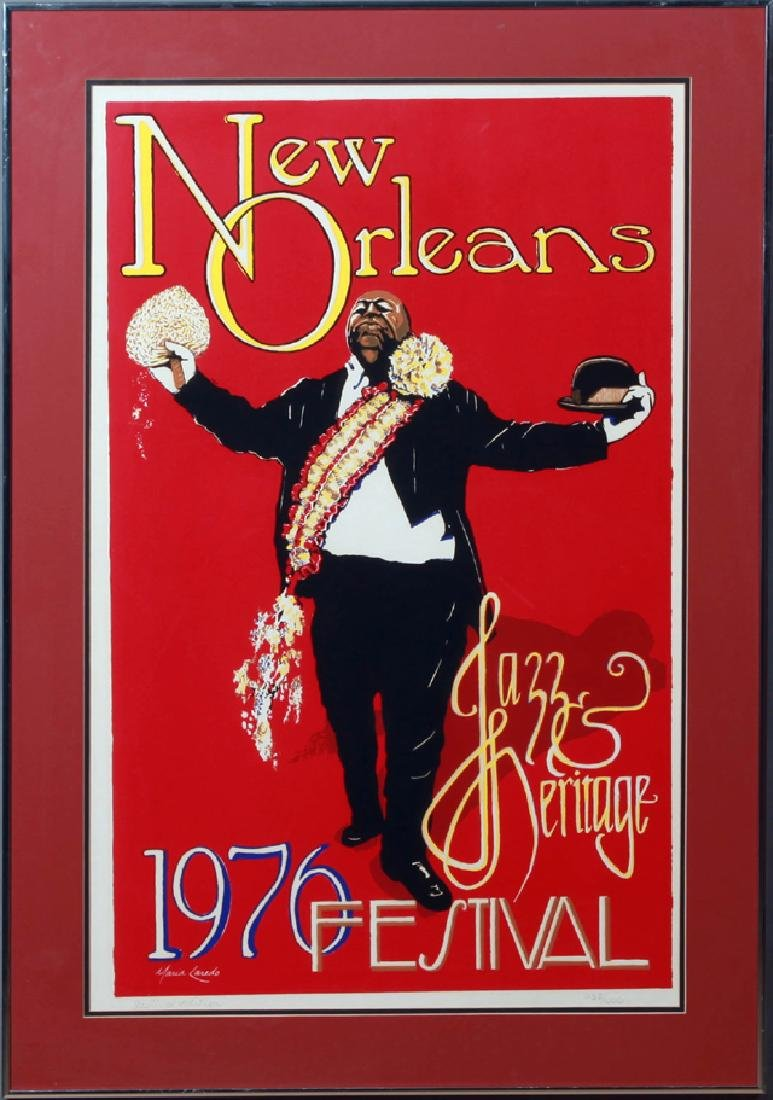 1976 New Orleans Jazz and Heritage Festival Poster, by