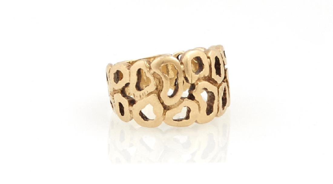 Group of Three Yellow Gold Rings, consisting of a 14K - 3