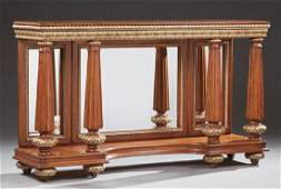 Louis XVI Style Gilt and Mahogany Console Table, 19th