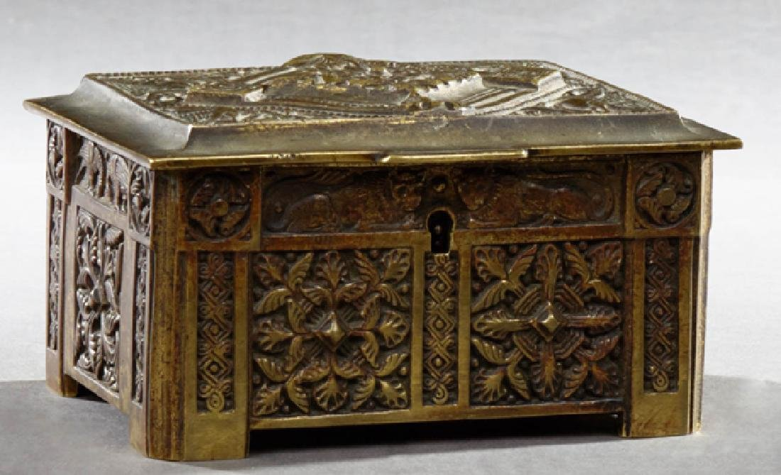 Belgian Bronze Dresser Box, early 20th c., with