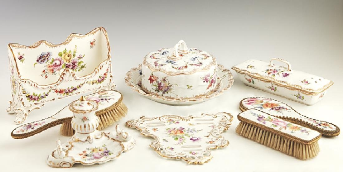 Eight Pieces of German Porcelain , early 20th c., with