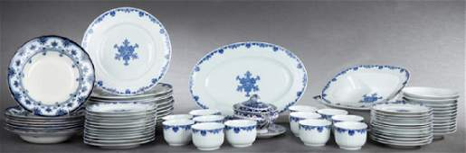 Seventy-Two Pieces of Dinnerware, consisting of a sixty