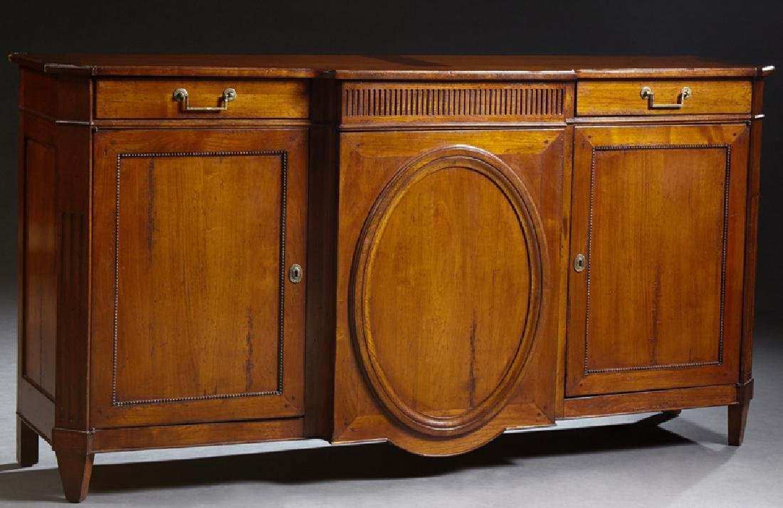 French Louis XVI Style Carved Mahogany Sideboard, early