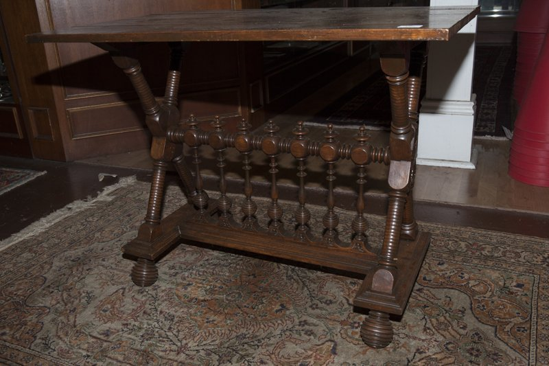 American Renaissance Revival Carved Walnut Side Table, - 3