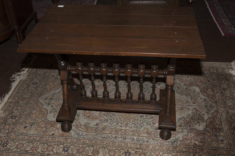 American Renaissance Revival Carved Walnut Side Table, - 8