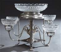 English Regency Style Sheffield Silver Plate and Cut