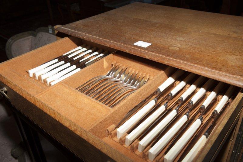 French Ninety-Three Piece Silverplated Cutlery Set, - 5