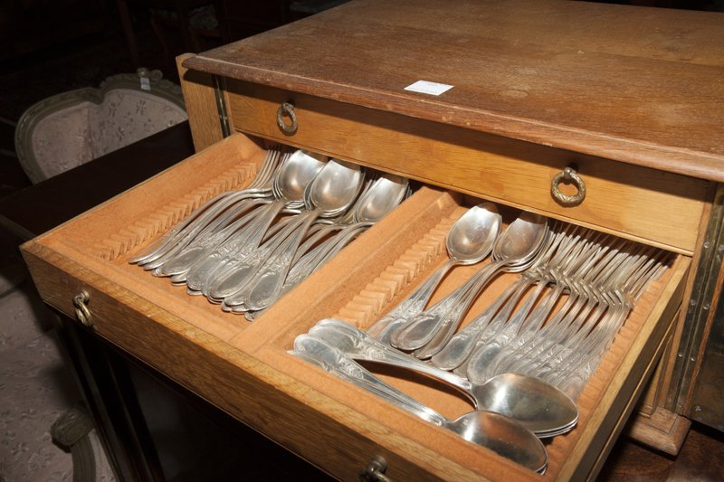 French Ninety-Three Piece Silverplated Cutlery Set, - 6