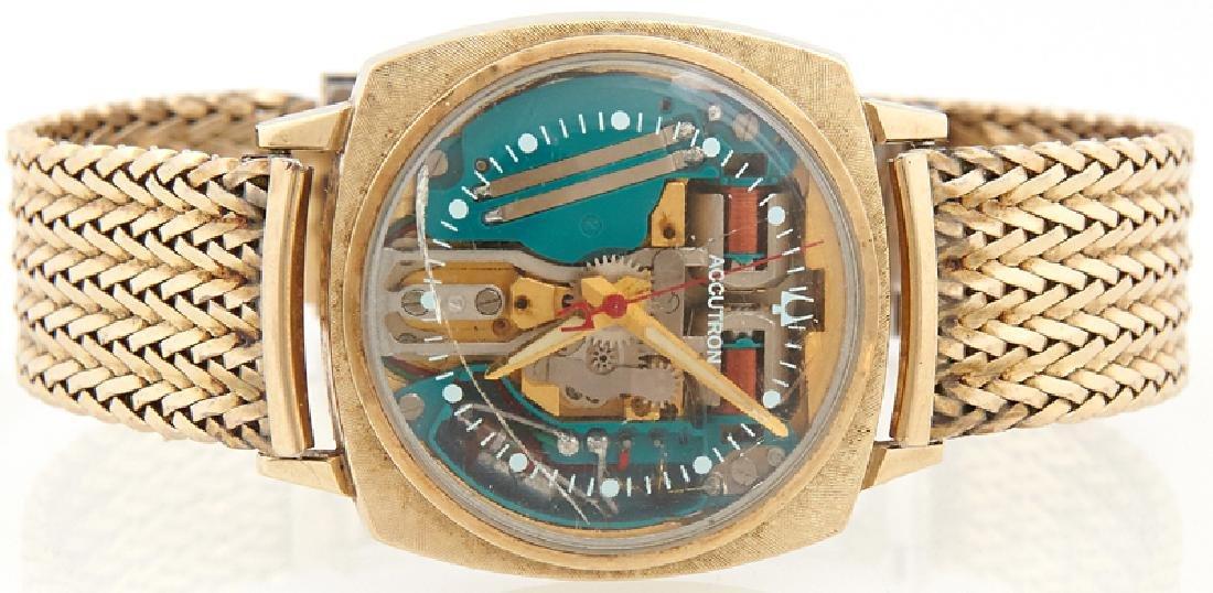 Bulova Accutron Spaceview Gold Filled Man's Wristwatch,