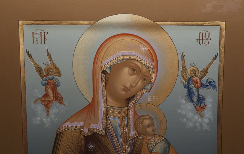 Russian Icon of the Virgin of Passion, 20th c., egg - 3