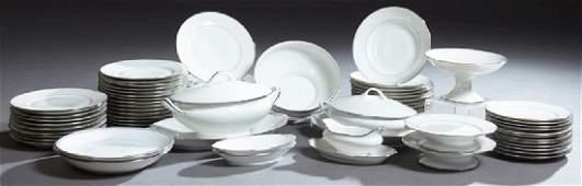 French Seventy-One Piece Set of Limoges Porcelain